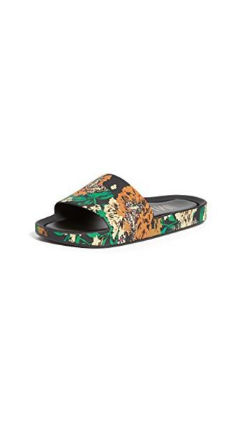 Melissa beach black green shoes
