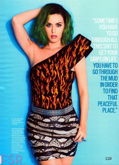 katy perry skirt top