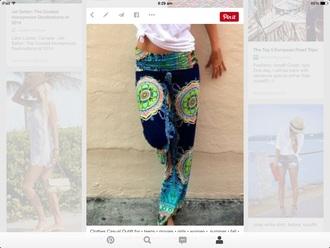 pants colorful pants printed pants
