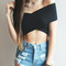 Cross front crop top - lookbook store