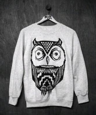 sweatshirt sweater owl