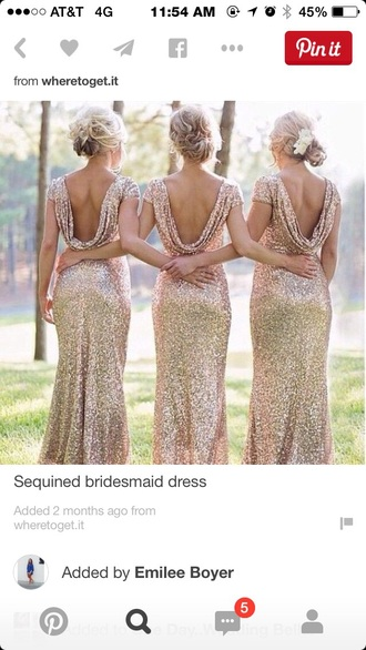 dress gold sequins dress champagne gold bridesmaid long dress sequin dress