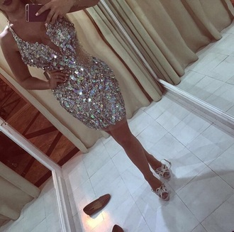 dress bling homecoming dress prom dress prom short dress glitter glitter dress homecoming elegant elegant dress evening dress party dress party summer dress sexy dress diamonds glamour shine dress prom gown long prom dress gown sparkle clothes outfit creme gold fitting short