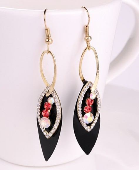 black black jewels jewels earrings