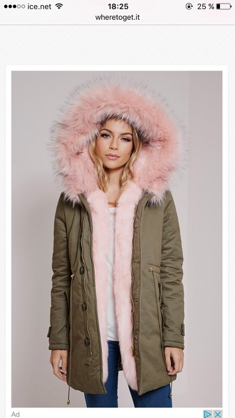jacket pink fur coat