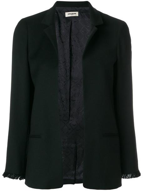 Zadig & Voltaire blazer women spandex black wool jacket