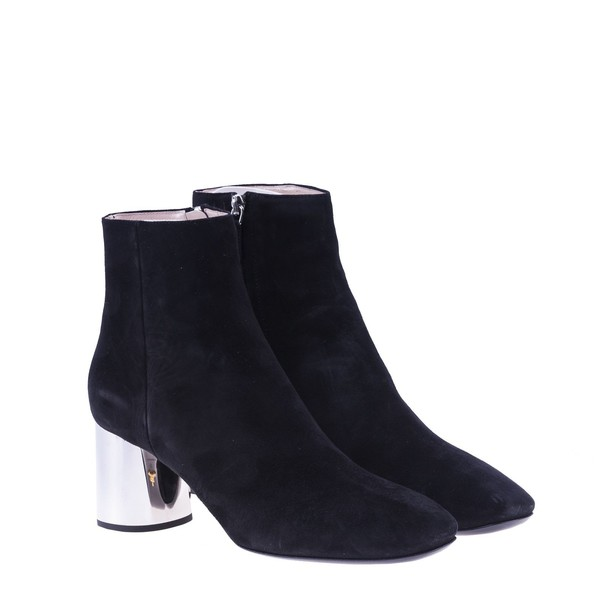 Prada ankle boots silver black shoes
