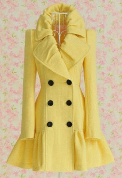 flowy yellow dress coat