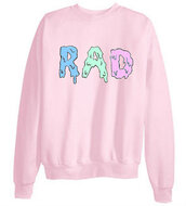 sweater,pink,radical,tumblr clothes,cute,rad,crewneck,freshtops,tumblr,hipster,jacket