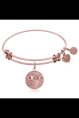 jewels gold bronze bracelets love heart shape