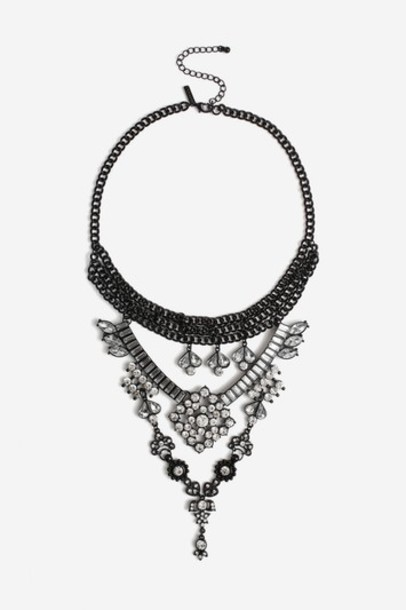 Topshop clear necklace choker necklace jewels
