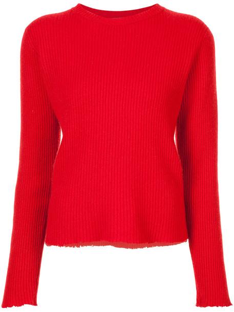 The Elder Statesman sweater women red
