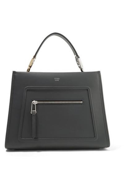 Fendi - Runaway Small Leather Tote - Black