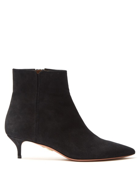 Aquazzura suede ankle boots ankle boots suede black shoes