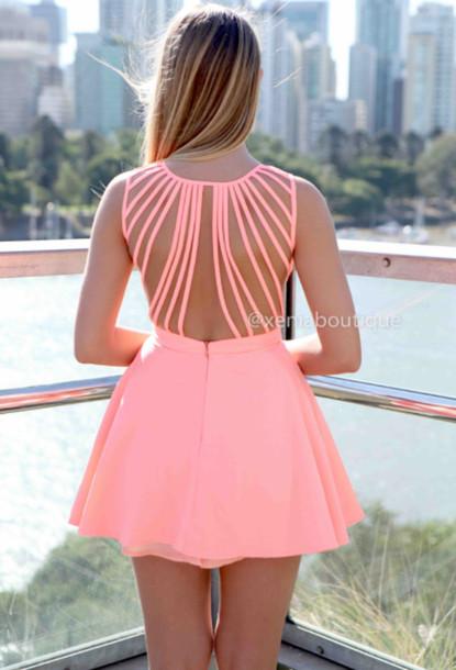 dress strappy back dress