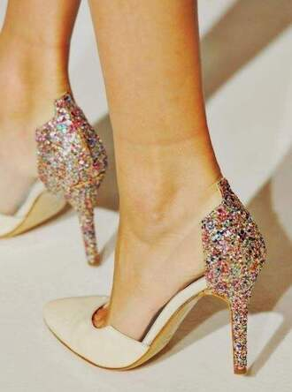 heels pink high heels paillettes shoes