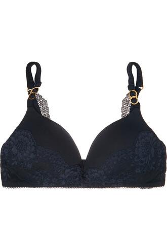 bra lace blue underwear
