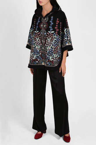 cape embroidered women top