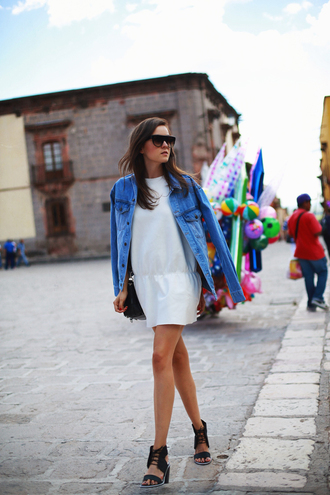 style scrapbook shoes jacket sunglasses jewels bag denim jacket dress