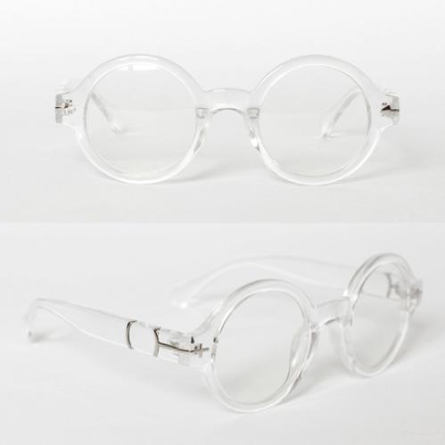Transparent round glasses / back order – holypink