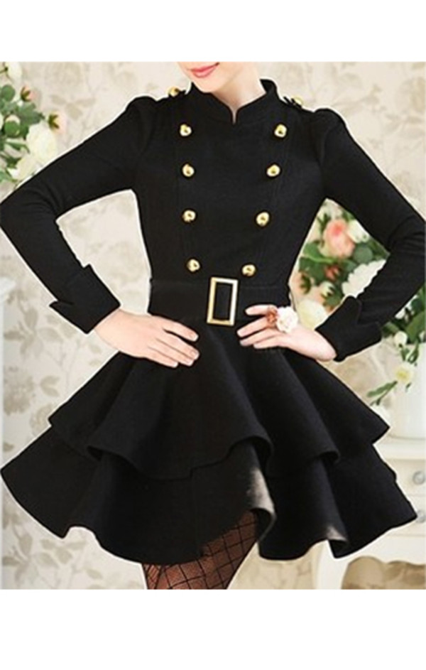 Dressy black winter coat – Modern fashion jacket photo blog