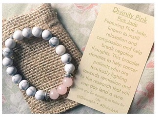 jewels pink pastel marbel marbel braclet