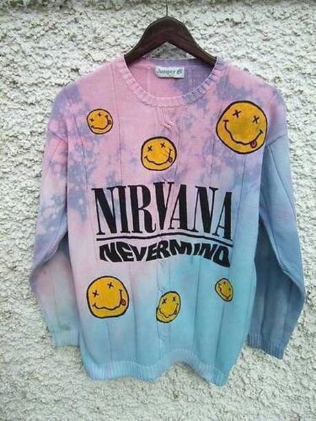 sweater nirvana sweatshirt ombre sweater