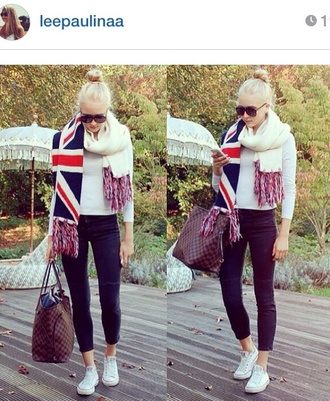 scarf united kingdom flag knit united kingdom cozy knitted scarf knitwear