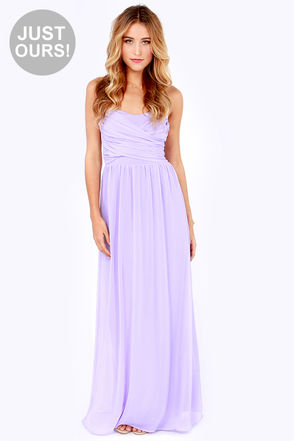 Lovely Lavender Dress - Strapless Dress - Maxi Dress - $71.00