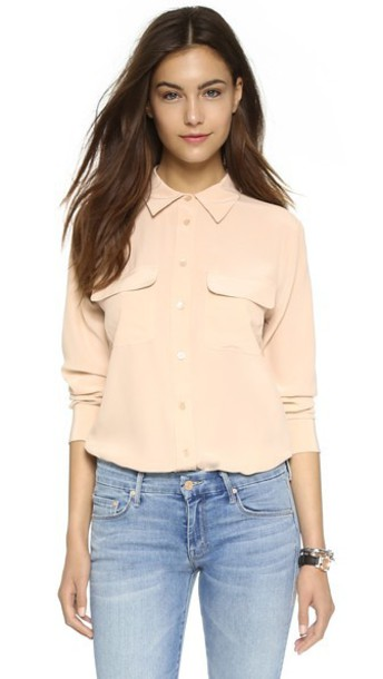 Equipment blouse nude top
