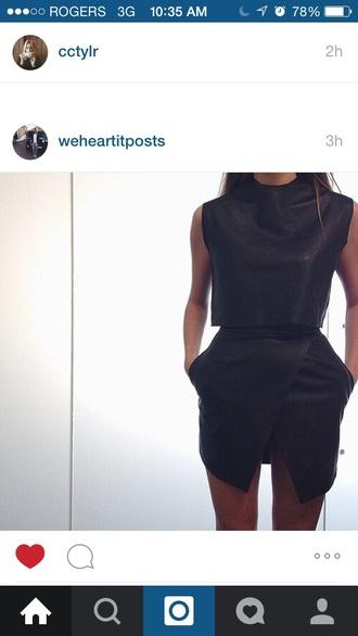 dress casual dress black dress hot pockets leather jacket