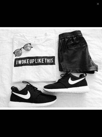 shorts black shorts leather shorts