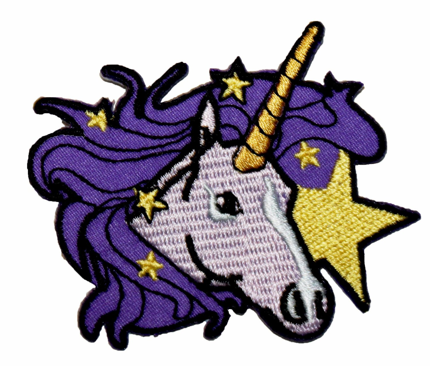 Amazon unicorn embroidered iron on applique patch