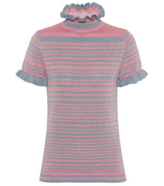 Shrimps sweater metallic wool