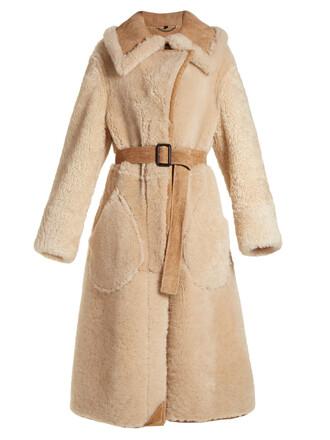 coat oversized beige