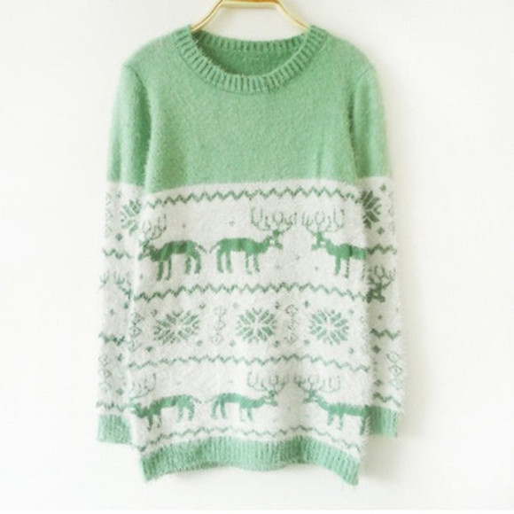 scarf sweater jumper lime green winter sweater pale