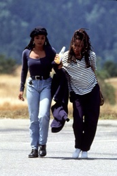 jeans,janet jackson,turban,mom jeans,90s style,blue top,blouse,clothes,celebrity,nigga,belt,80s style,style,shoes,weed,rap