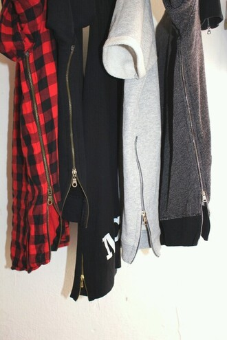 shirt streetstyle zipper flannel