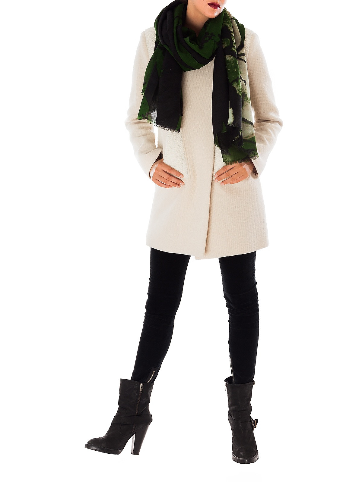 E-MOONLIGHT GREEN SCARF | GIRISSIMA.COM - Collectible fashion to love and to last