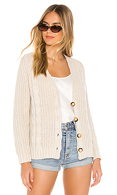 One Grey Day Calista Cardigan in Sable Combo from Revolve.com