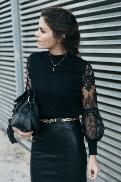e18703ae928 blouse tumblr party outfits party black blazer top black top lace top black  lace top belt