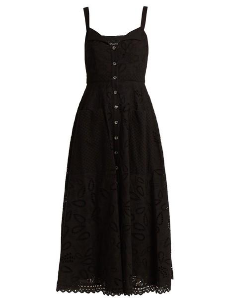 Saloni dress midi dress midi cotton black