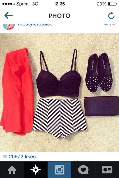 jacket amazing shoes shorts cute shorts adorable cute night out needed clothes pattern stripes