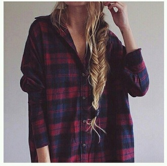 shirt flannel shirt braid hairstyles