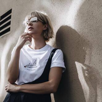 t-shirt tumblr white t-shirt glasses blonde hair short hair hairstyles science graphic tee retro gender neutral non-binary androgynous equality
