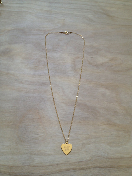 FUCK OFF Heart Necklace – Bunnies In LA