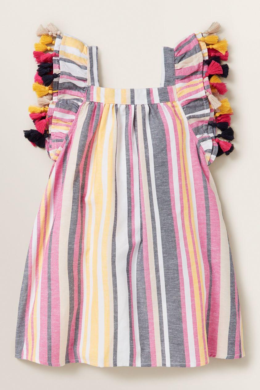 Stripe Tassel Dress