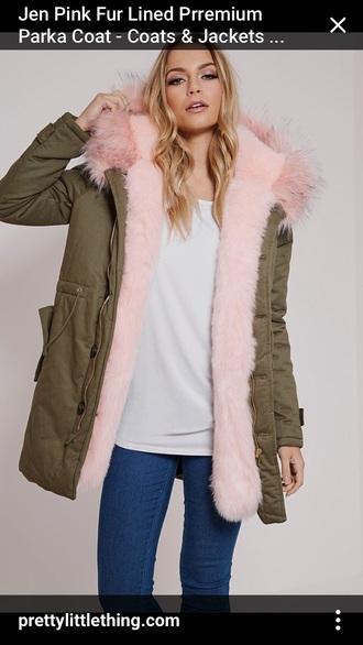 coat faux fur parka