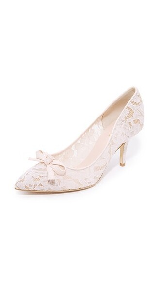 pumps lace blush shoes
