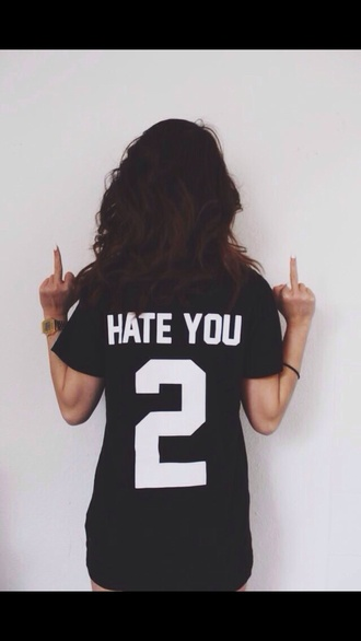 shirt short sleeves short sleeve black and white black white blvck hate you 2 trill the trillest fashion cute long sleeves short sleeve shirt t-shirt short sleeve t shirts jewels jersey hate 2